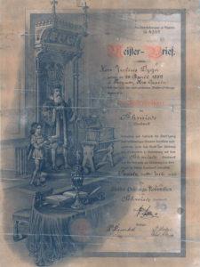 Dyplom mistrzowski Juliusz Dyga